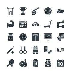 Fitness Cool Icons 2 vector image