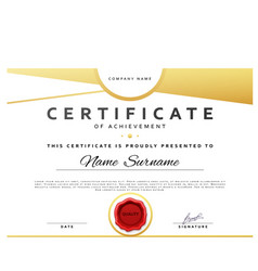 Ready design certificate for promotion with red vector