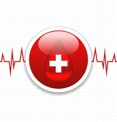 Abstract medical background save life heart vector