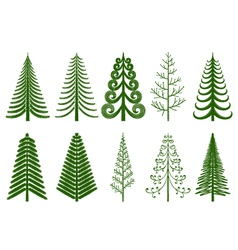 Abstract pine trees vector image