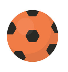 Ball football icon flat cartoon style isolated vector