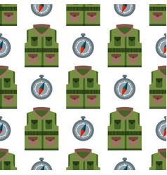 Bulletproof vest seamless pattern background vector