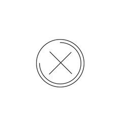 close cross line icon eps-10 vector image