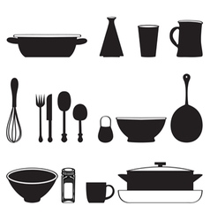 Food and drink kitchen utensils isolated vector