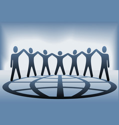 global people hold up hands vector image vector image