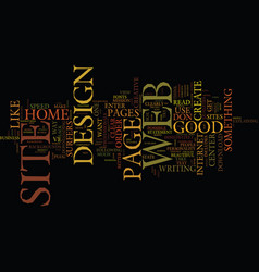 Good web site design text background word cloud vector