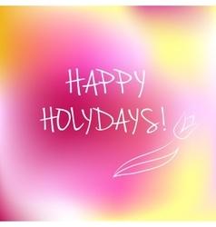 Happy Holidays logotype vector image vector image