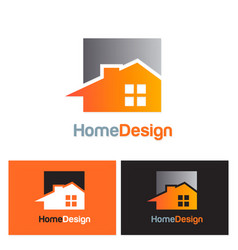 home realty design logo vector image vector image