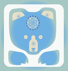 Ice bear icon vector