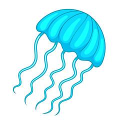 Jellyfish icon cartoon style vector