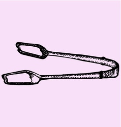 Kitchen tongs vector image