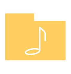 music folder silhouette icon pictogram vector image vector image