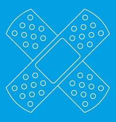 Patch icon outline style vector