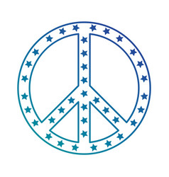 peace symbol with stars vector image