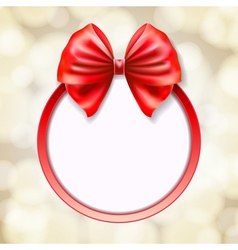 Red round frame vector
