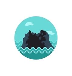 Rocks in the sea icon summer vacation vector