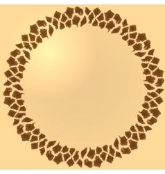 Seamless giraffe fur frame vector