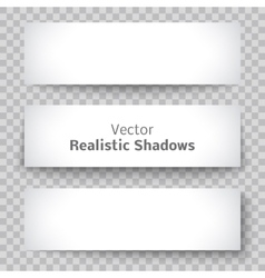 Set of blank banner sheet paper with shadow vector image