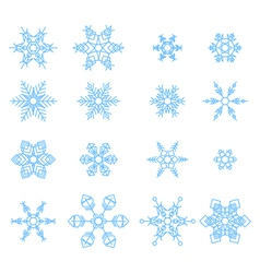 Set of snowflakes abstract isolation winter vector