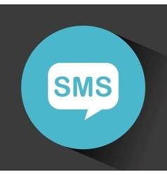 Sms speech bubble vector