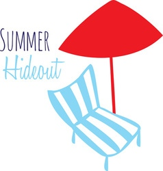 Summer hideout vector
