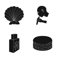 Travel technology and or web icon in black style vector