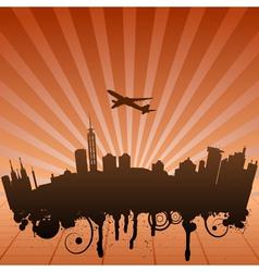 urban landscape of Jakarta vector image vector image