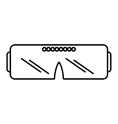 Vr glasses device gadget outline vector