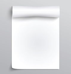 White sheet of paper vector