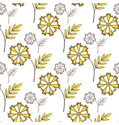 Yellow Flowers On White vector image