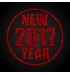 Red Sequins New 2017 Year Star Circle vector image