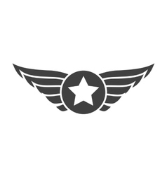 Aviation gray emblem badge or logo vector