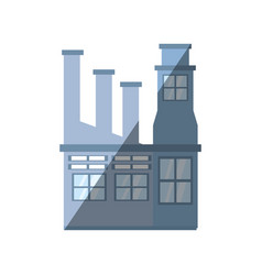 building factory structure shadow vector image