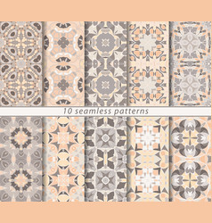 Set of ten seamless patterns vector