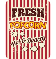 Retro style popcorn packaging design vector