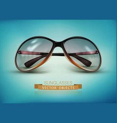 Sunglasses isolated on a blue background vector
