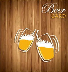 Beer card vector image
