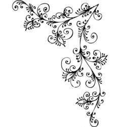Baroque vignette vector