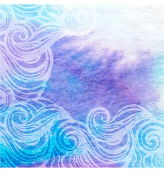 Watercolor aqua background-abstract hand drawn vector
