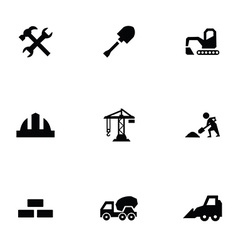 Construction 9 icons set vector