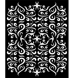 Ornaments Wall Silhouette vector image