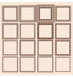 Set of square frames vector