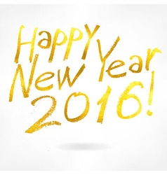 Gold label happy new year vector