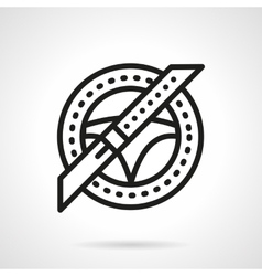 Car insurance black line icon safe driving vector