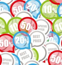 price discount background vector image