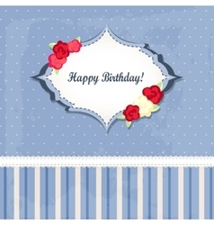 happy birthday card design romantic style vector image