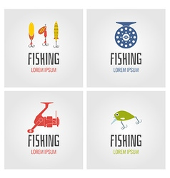 Fishing logo set vector