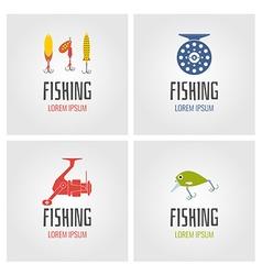 Fishing logo set vector