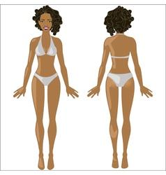 African american woman in swimwear vector