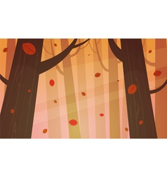 Autumn forest vector
